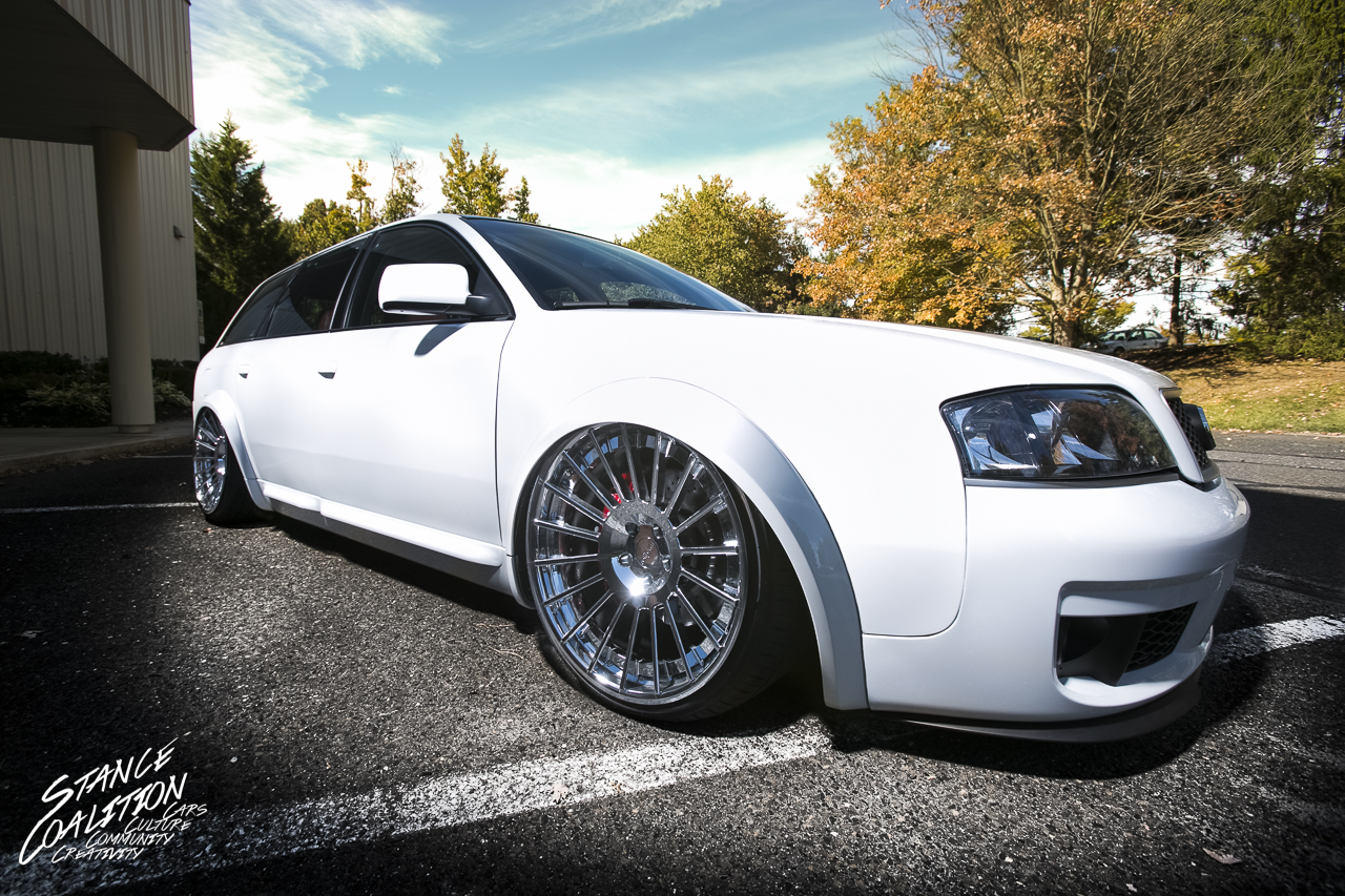 2004 Audi Allroad * 20u2033 3 Piece Rotiform INDu0027s * Six Piston Brembos In The  Front With Drilled Rotors All Around * Fresh White Paint, Black Roof * Roof  Rack ...