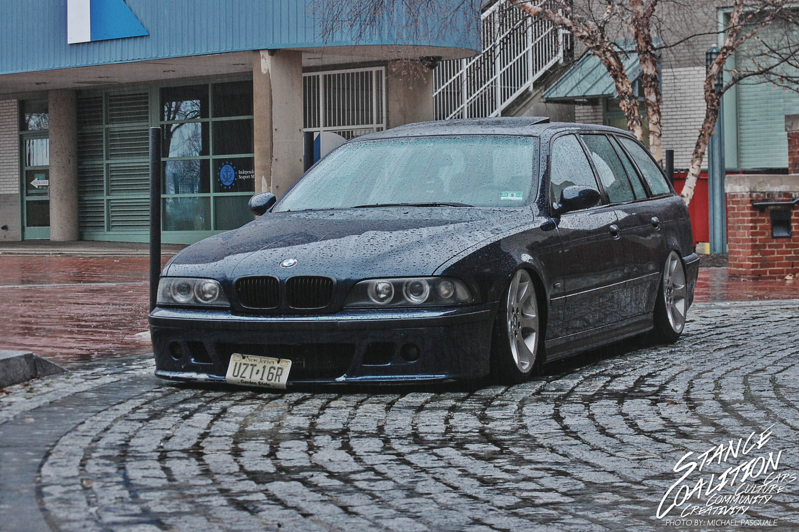 Caution Deep Puddles Tys Bmw 5 Series Wagon Stancecoalition The Car Sports A 44 Liter V8 That Makes This Dad Get Up And Go But E46 M3 Front Bumper Carbon Bill Euro 50 Tails Gave